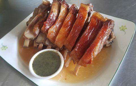 Roast lamb at Restaurant BBQ Chan